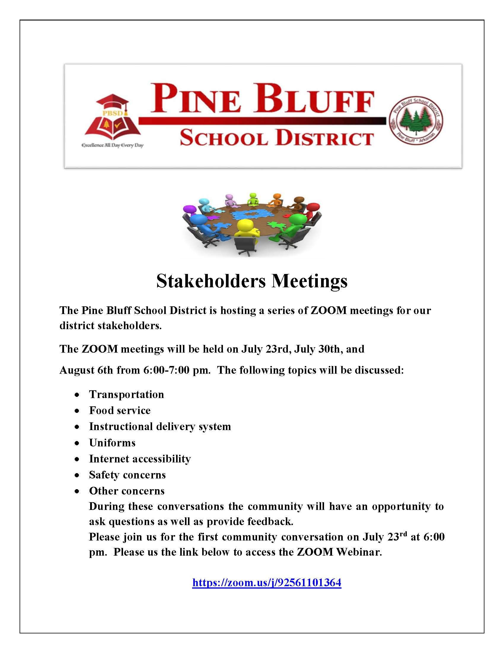 Stake Holdres Meeting Flyer
