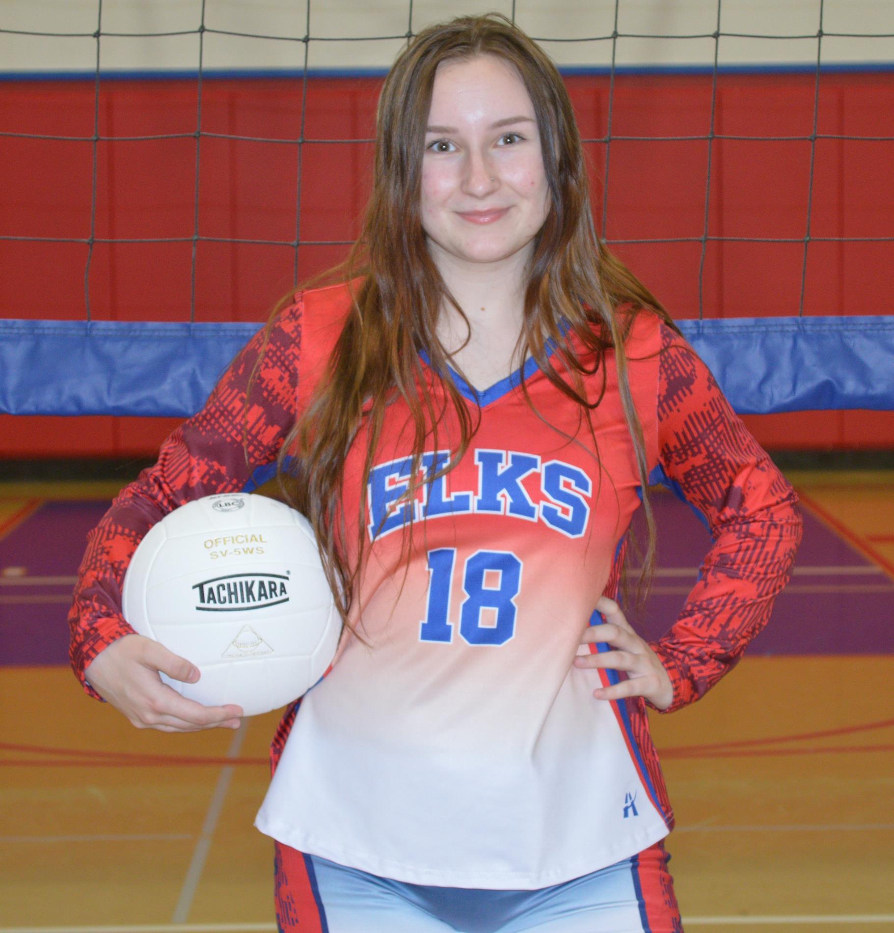 sadie wells volley ball team 2019