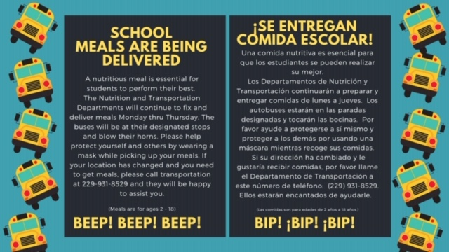School Meals English and Spanish