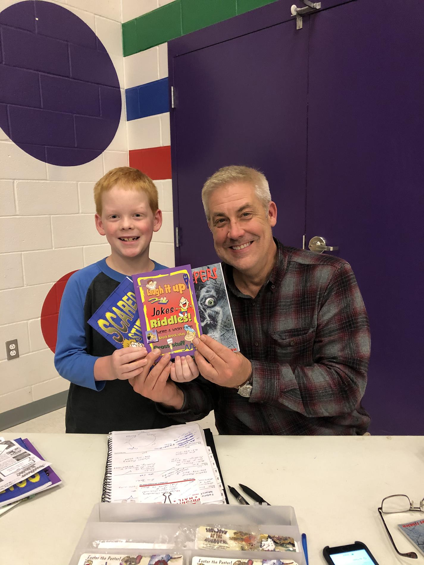 Mike Finklea and fan