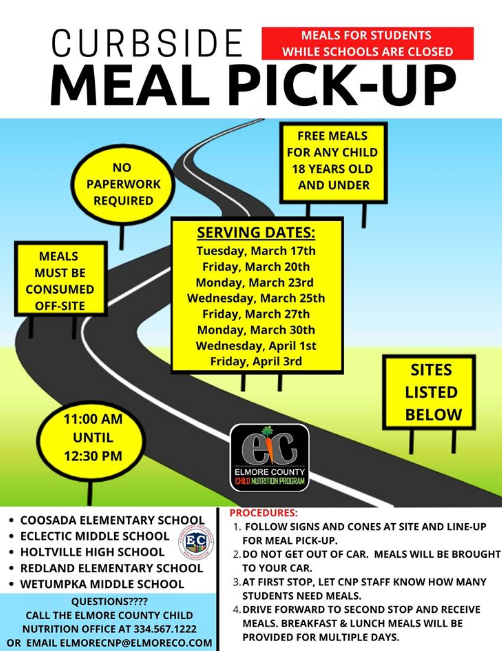 Curbside pick up information