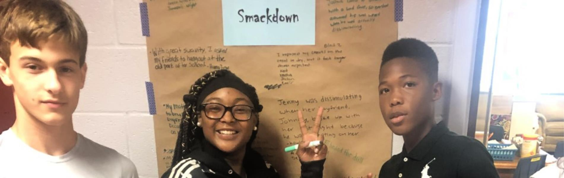 Students participate in Sentence Smackdown