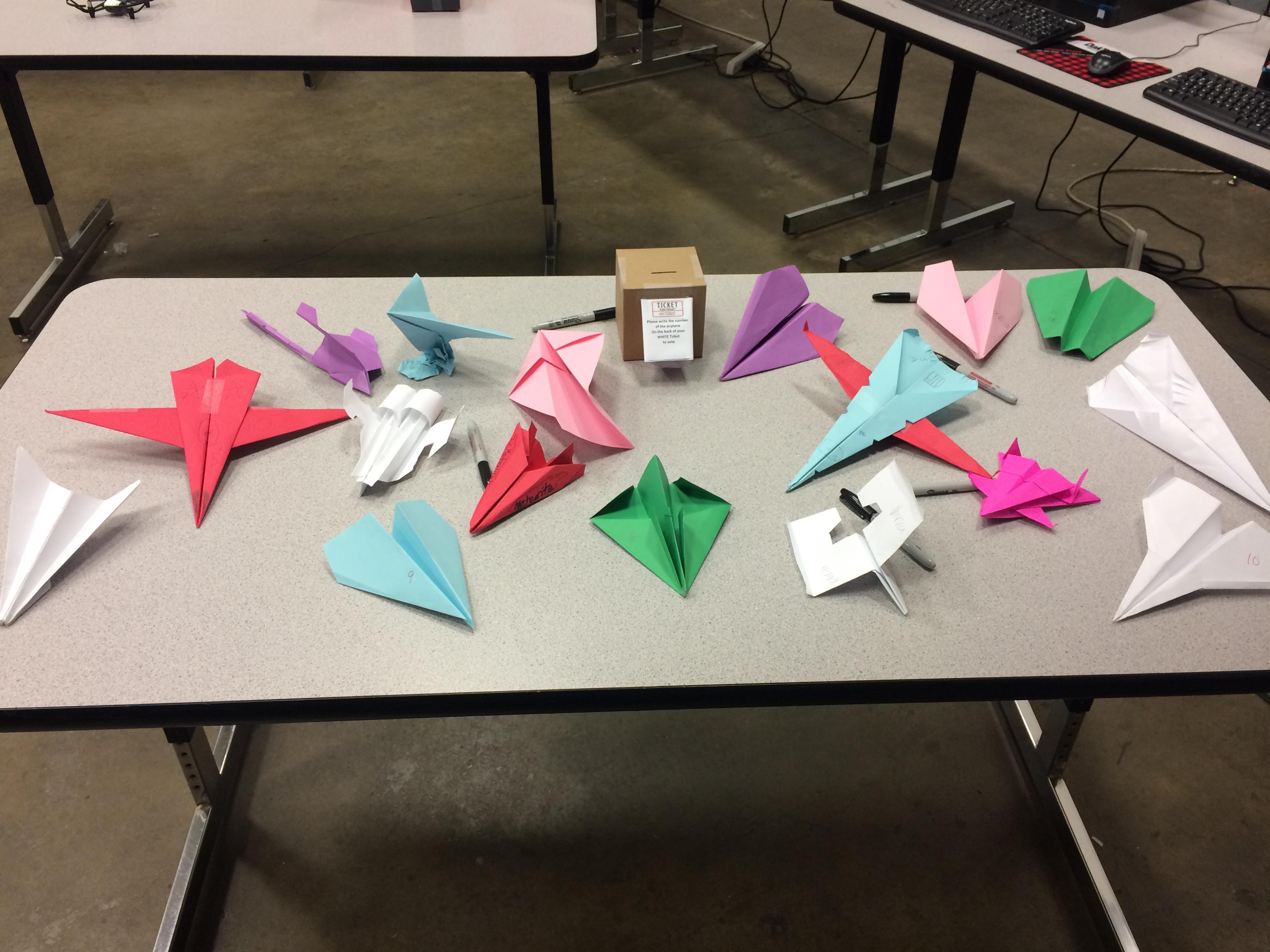 Paper Airplane Design Contest.