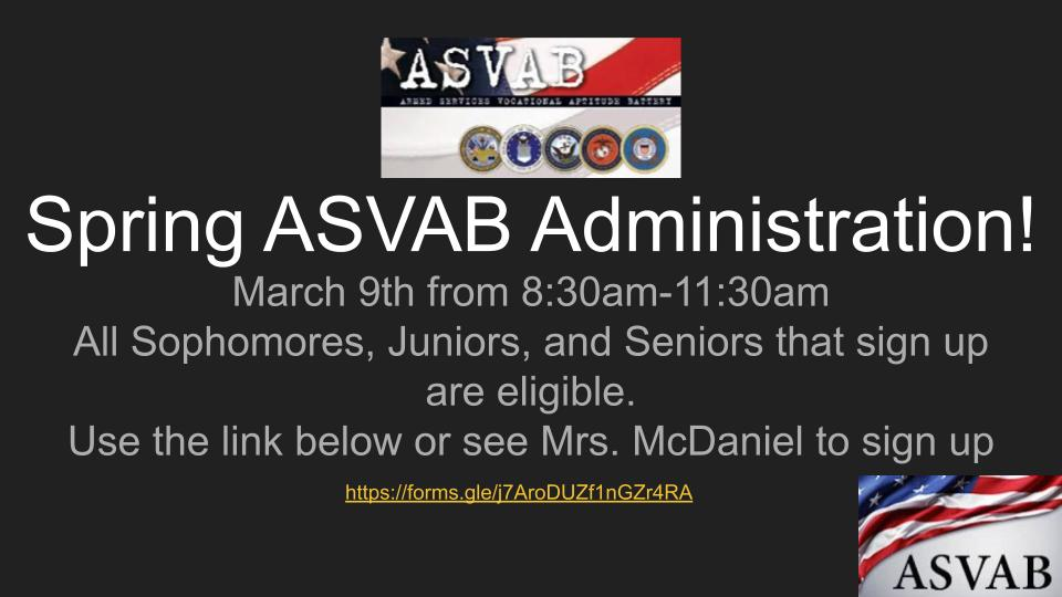 ASVAB Sign Up