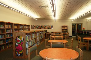 Interior view of RLES library