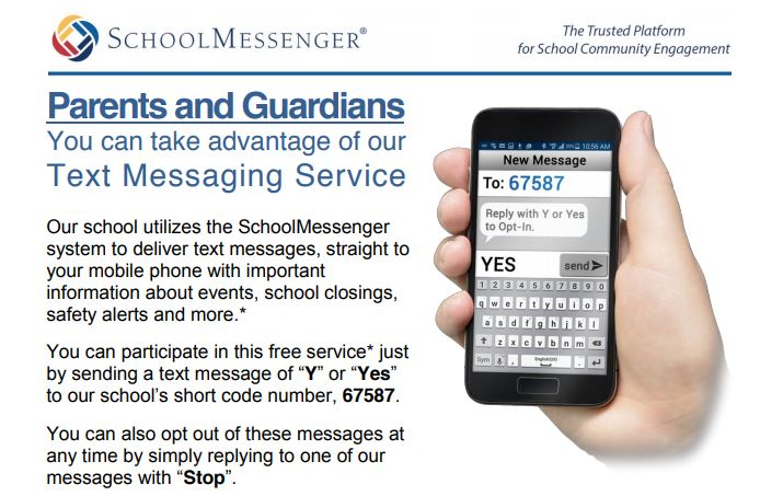 Opt in for SMS messages