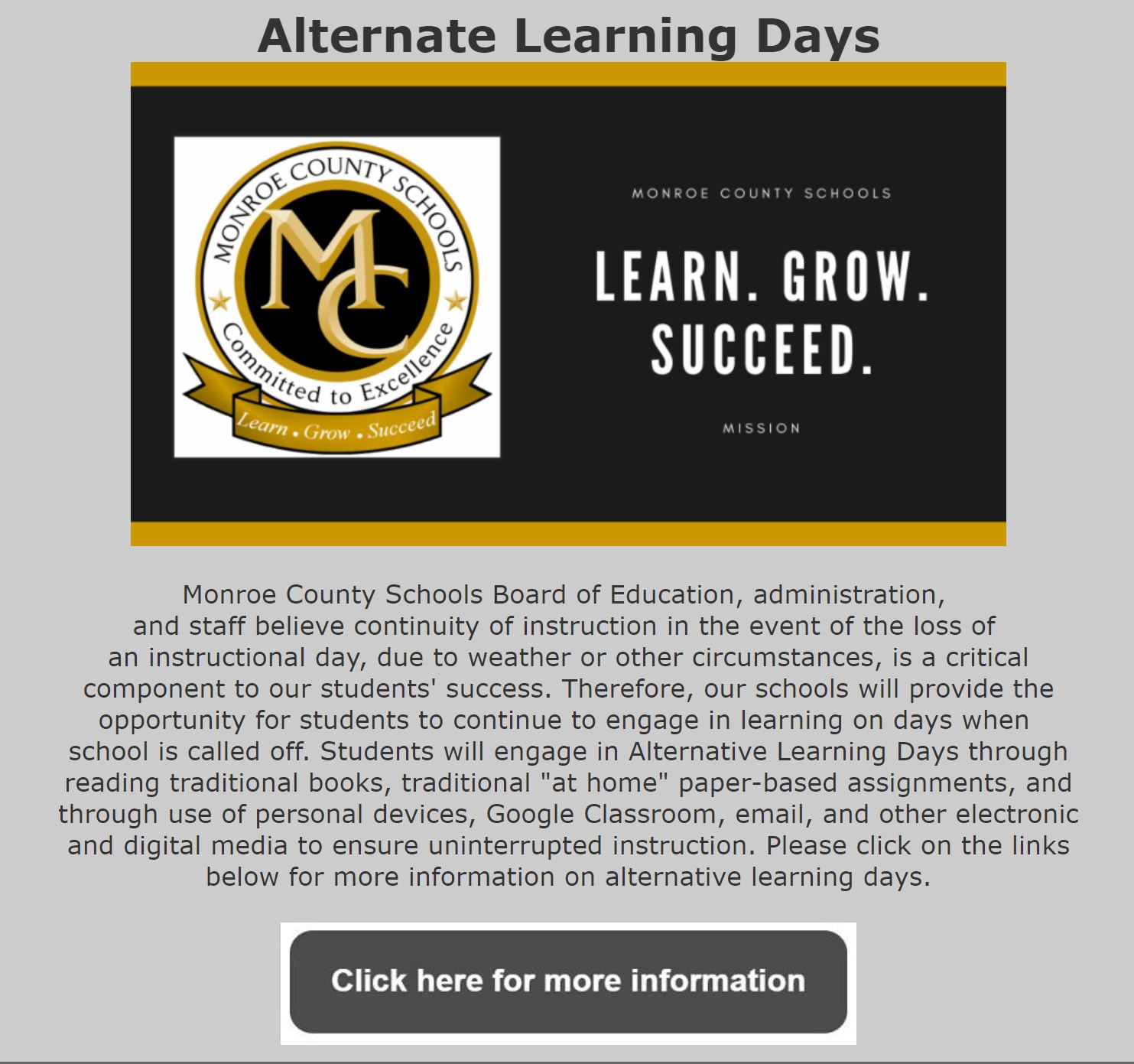 Alternate Learning Days