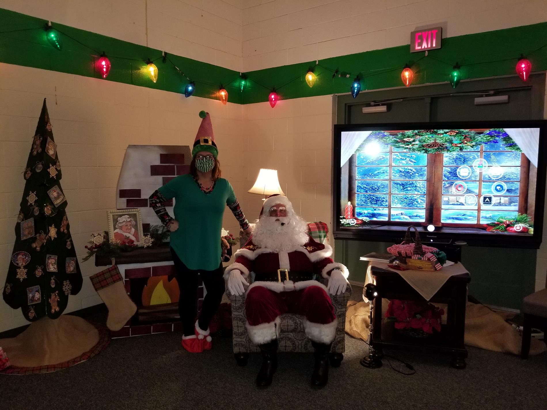 Santa and Elf