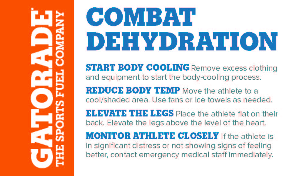 Combat dehydration sign