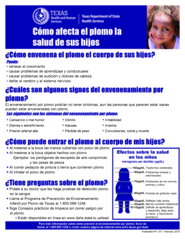 How Lead Affects Your Child's Health Spanish