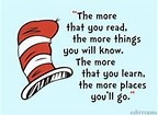 Reading quote from Dr. Suess