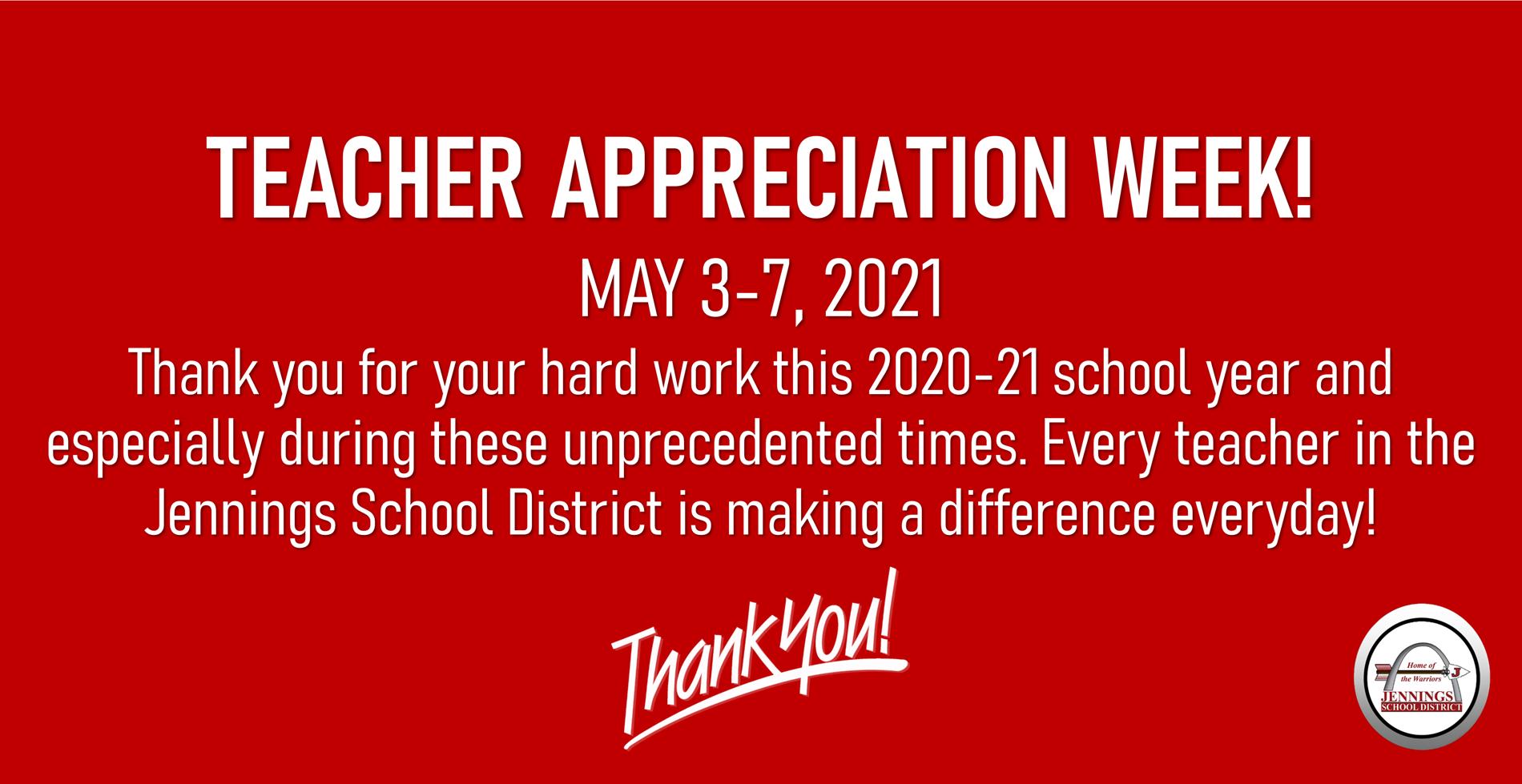 2021 teacher appreciation