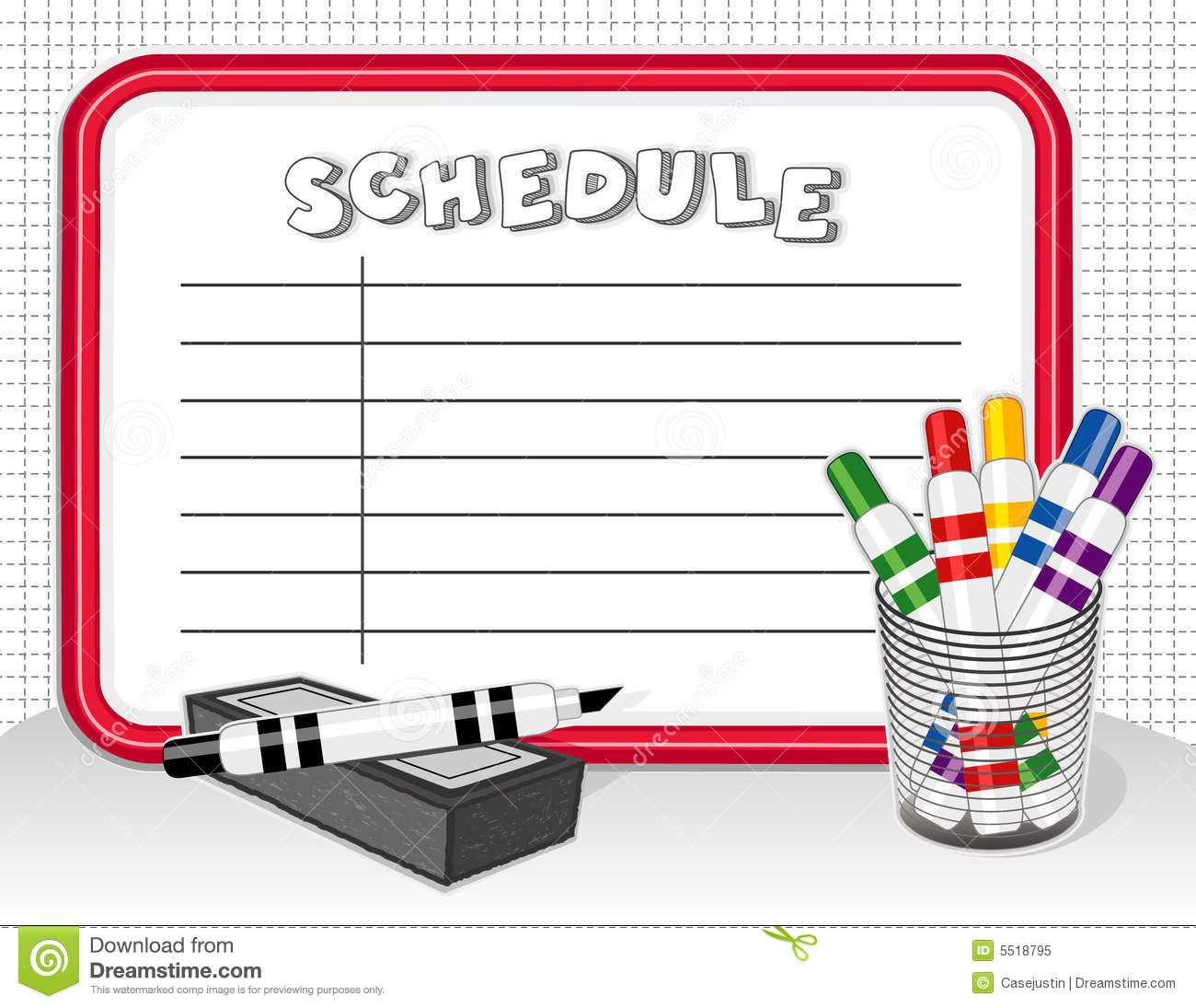schedule board with markers