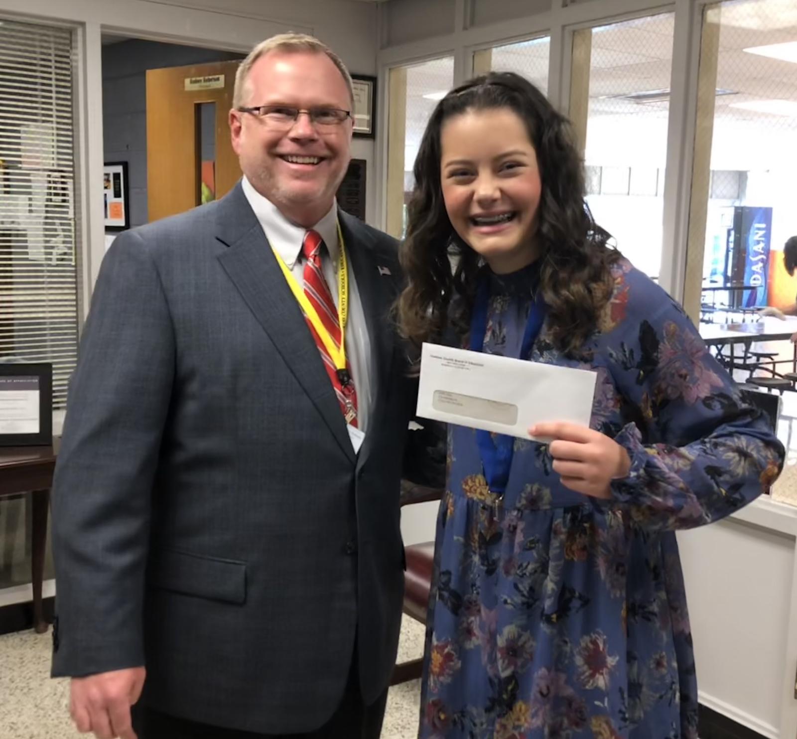 Attendance Awareness Month essay contest winner Eliza Smith