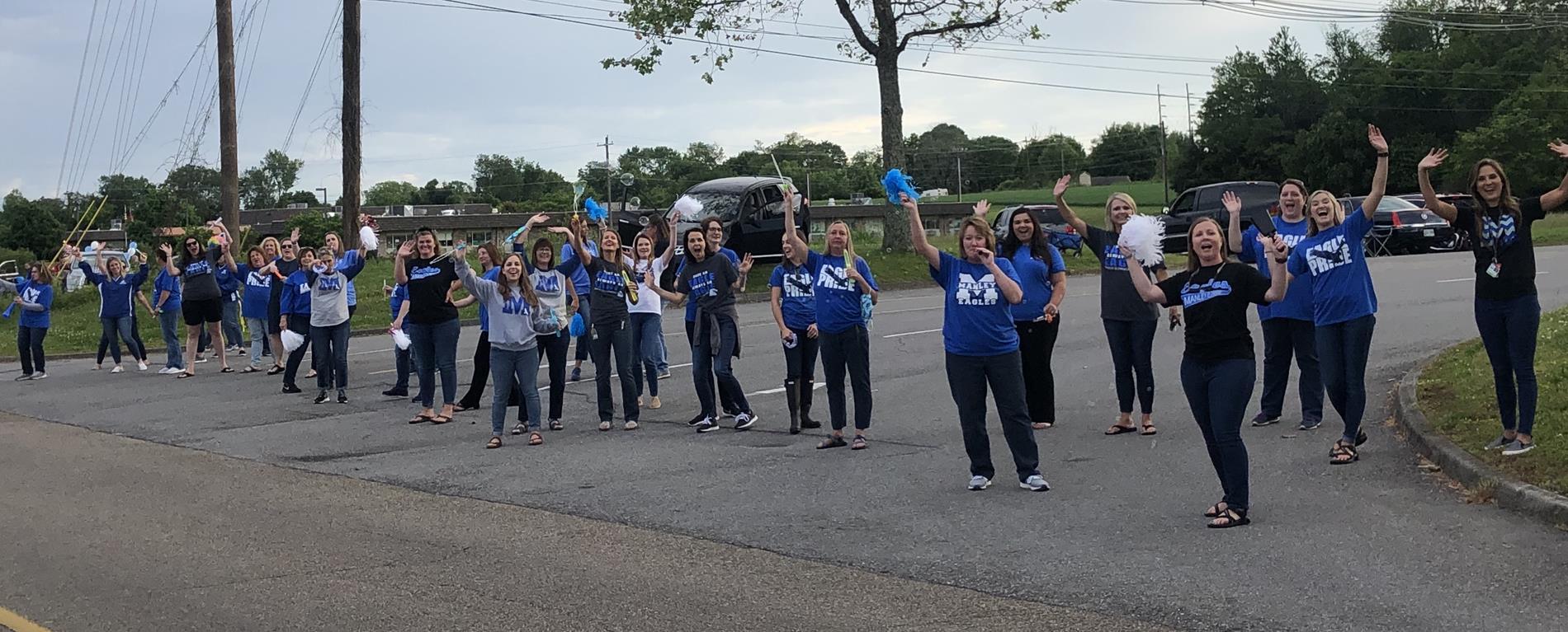 teachers in parade
