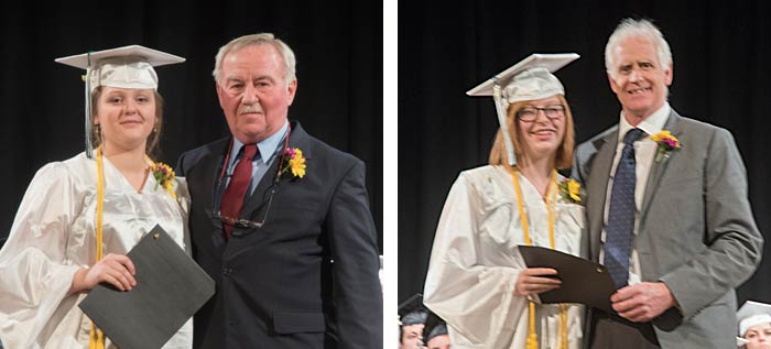 Students receiving academic excellence awards