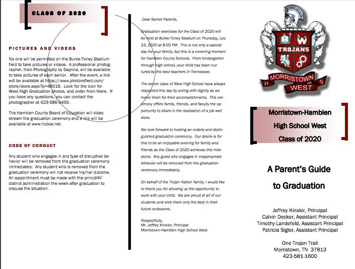 Graduation info. for parents