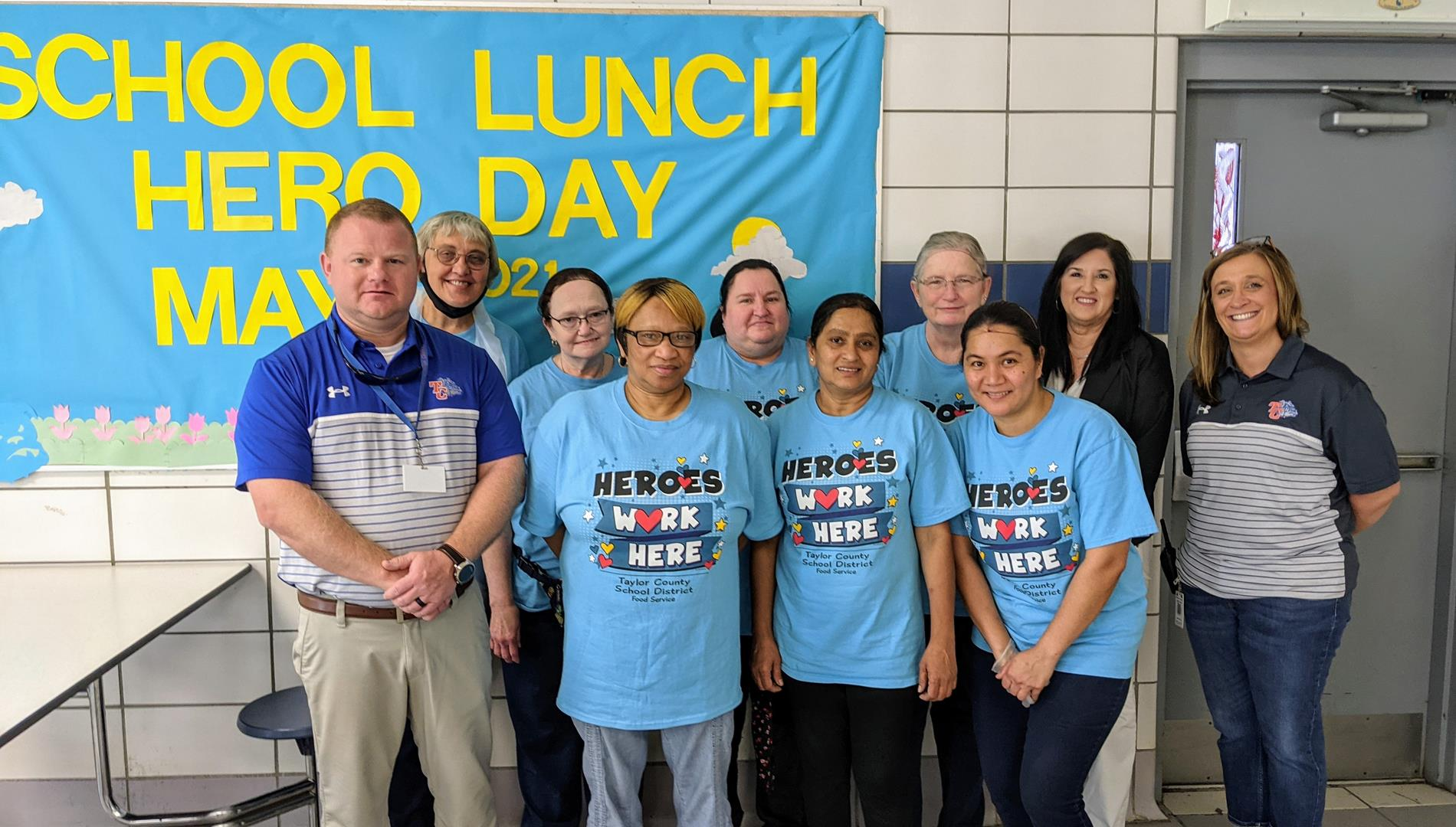 TCHS Lunchroom staff and administrators