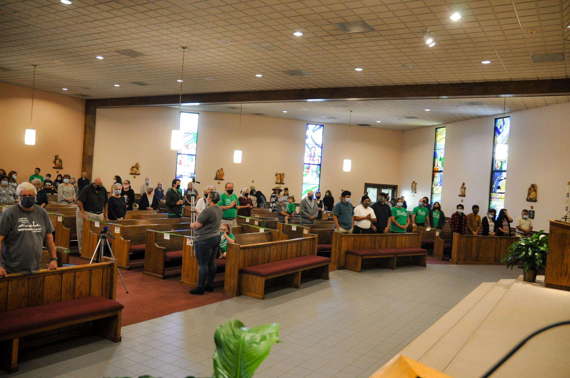 A glimpse of the congregation