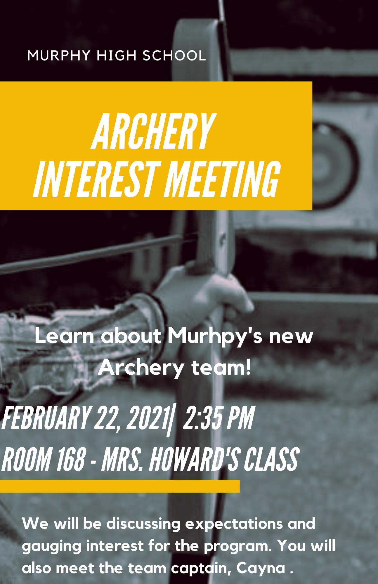 Interest meeting 1