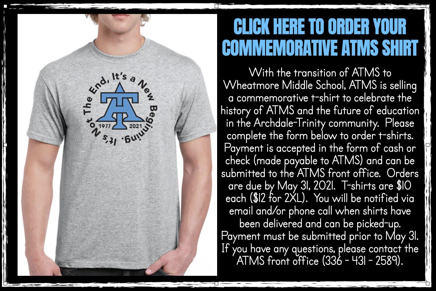 ATMS Shirt Order