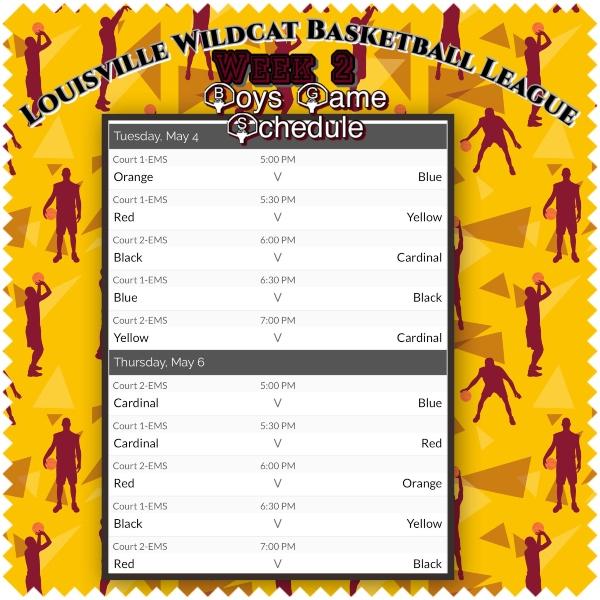 B Ball Schedule 7