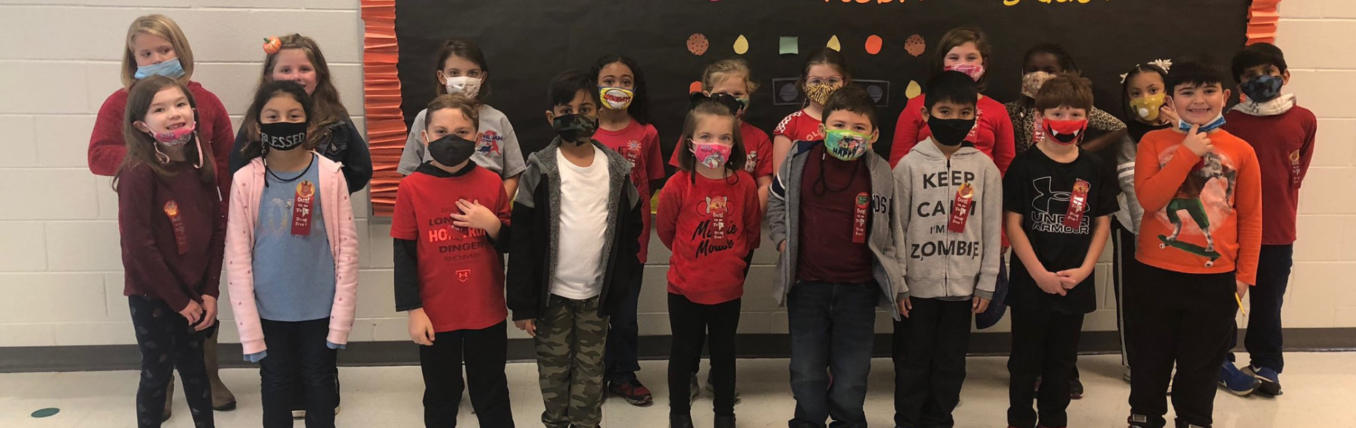 Group student pic with masks