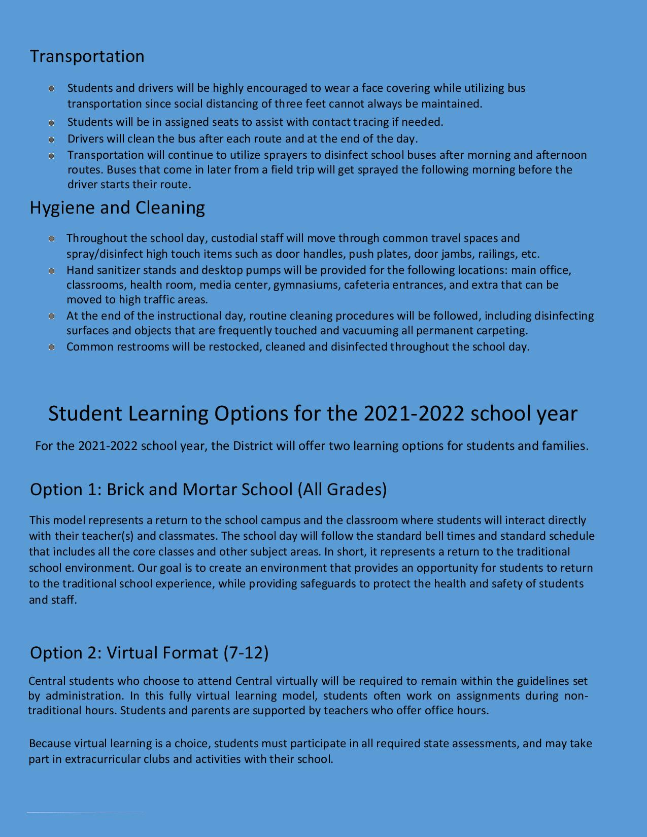 Revised Re-opening Plan 2021 page 6 Click for Link to PDF