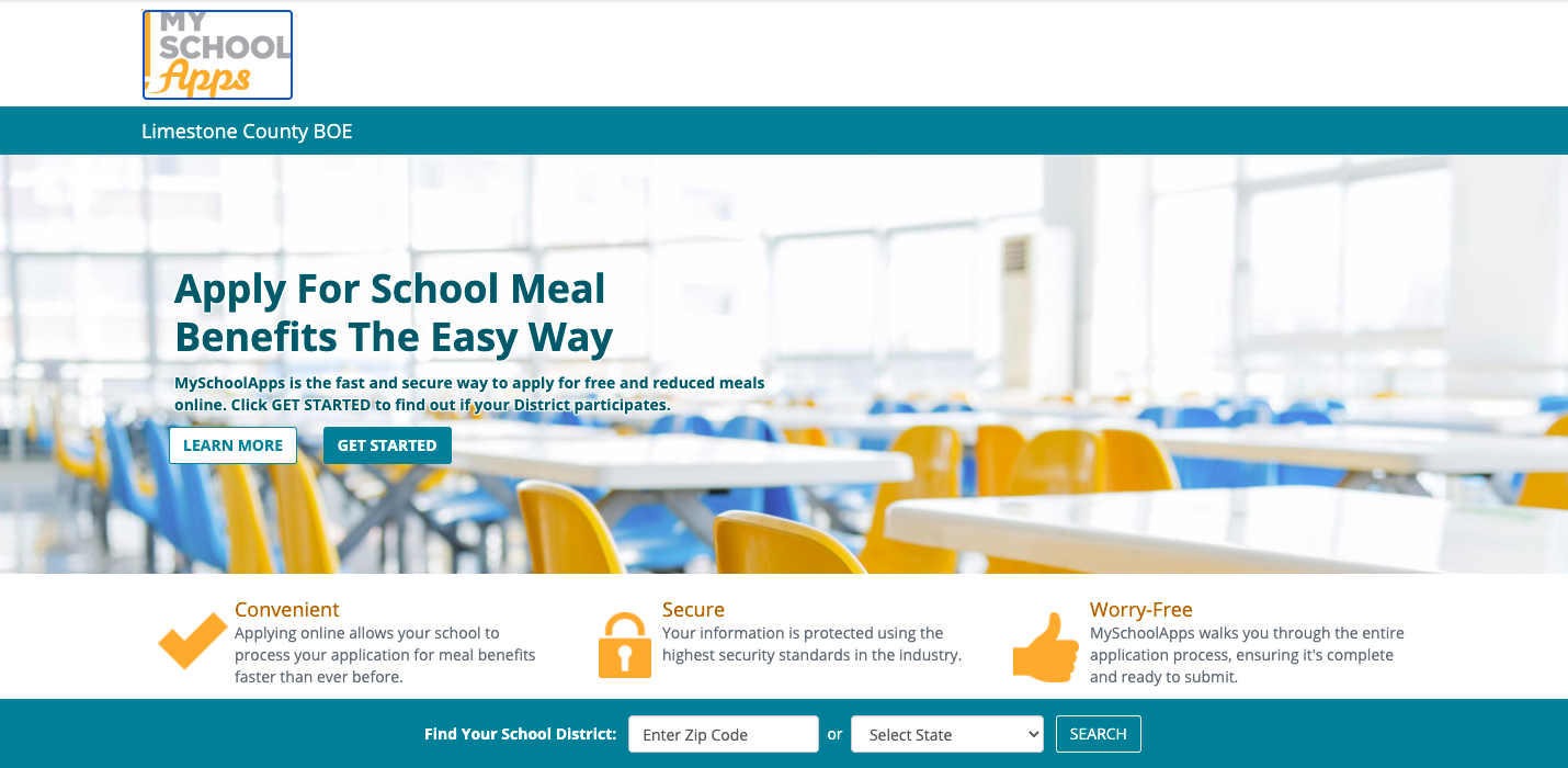 """Our New Lunch Account Program """"My School Apps"""""""