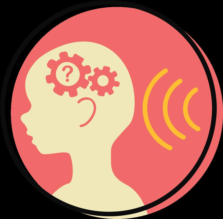 icon of child hearing sound