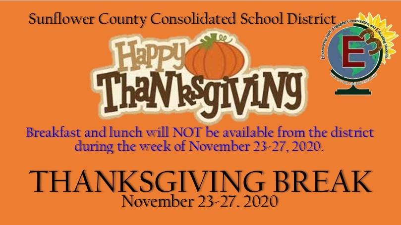 Thanksgiving Break - Schools Closed