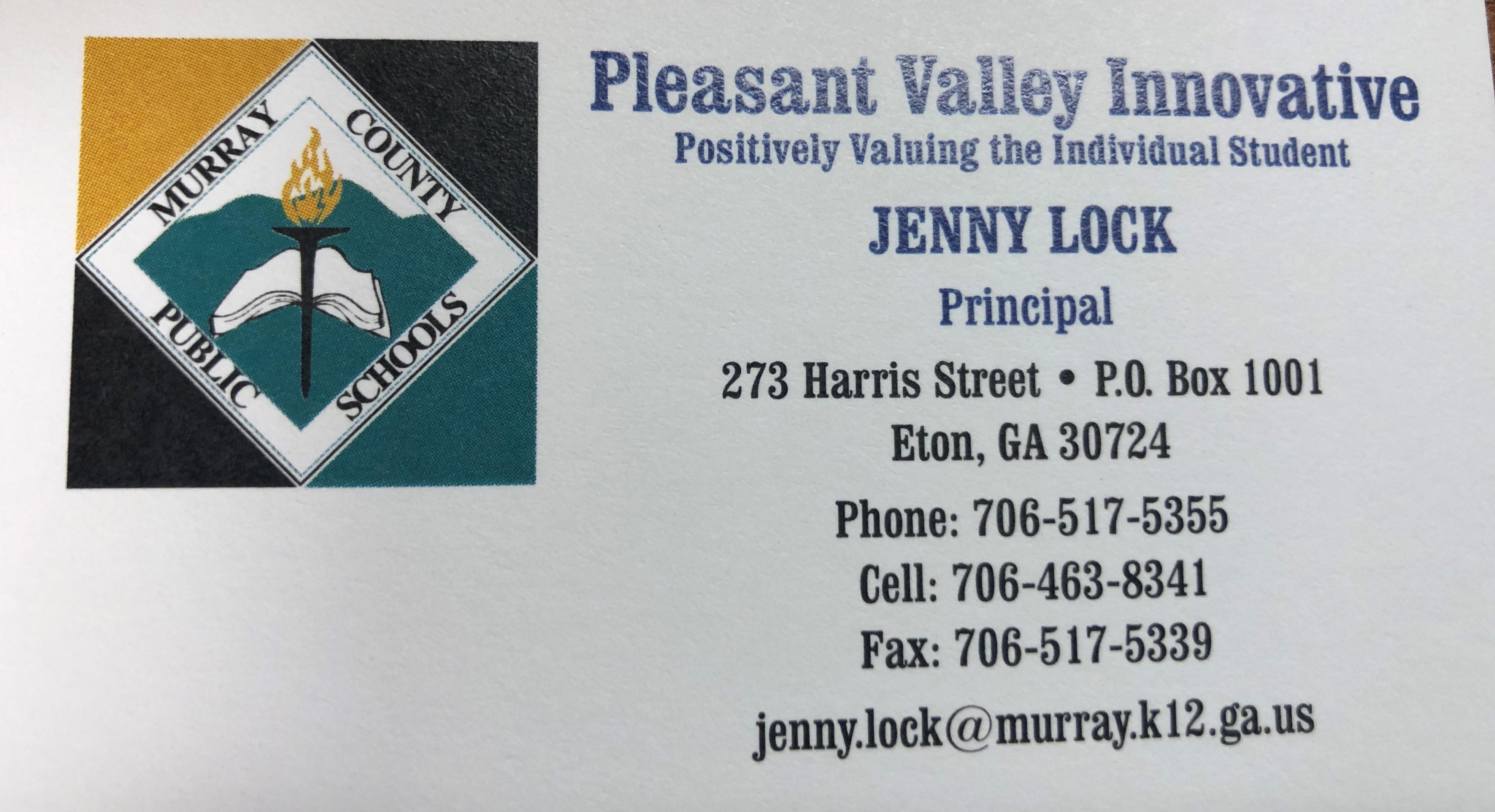 Principal Contact Info