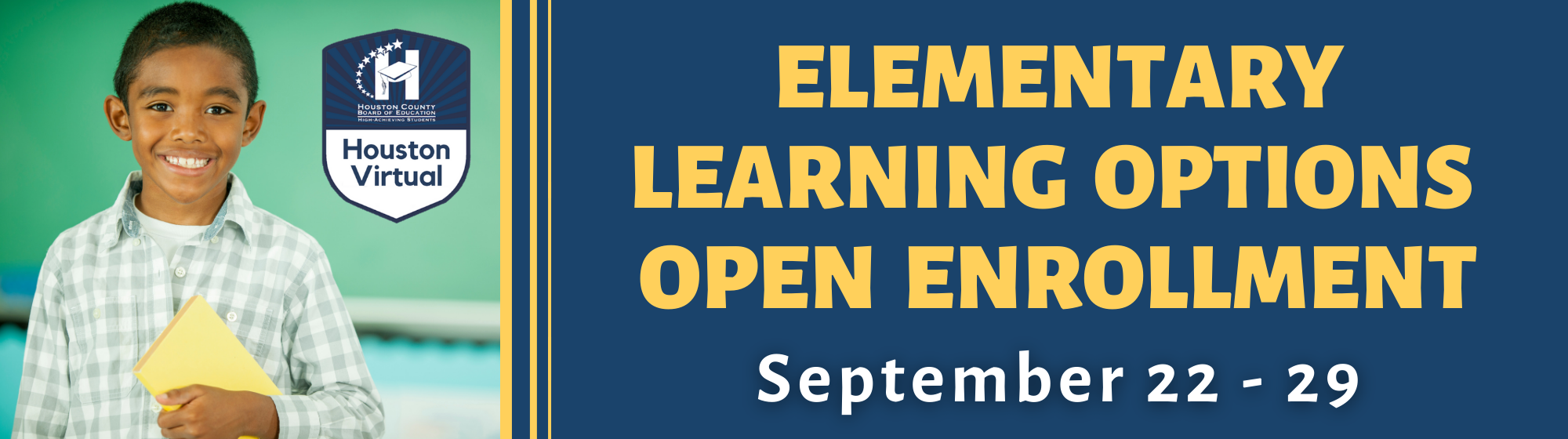 Elementary Learning Options Open Enrollment, September 22-29