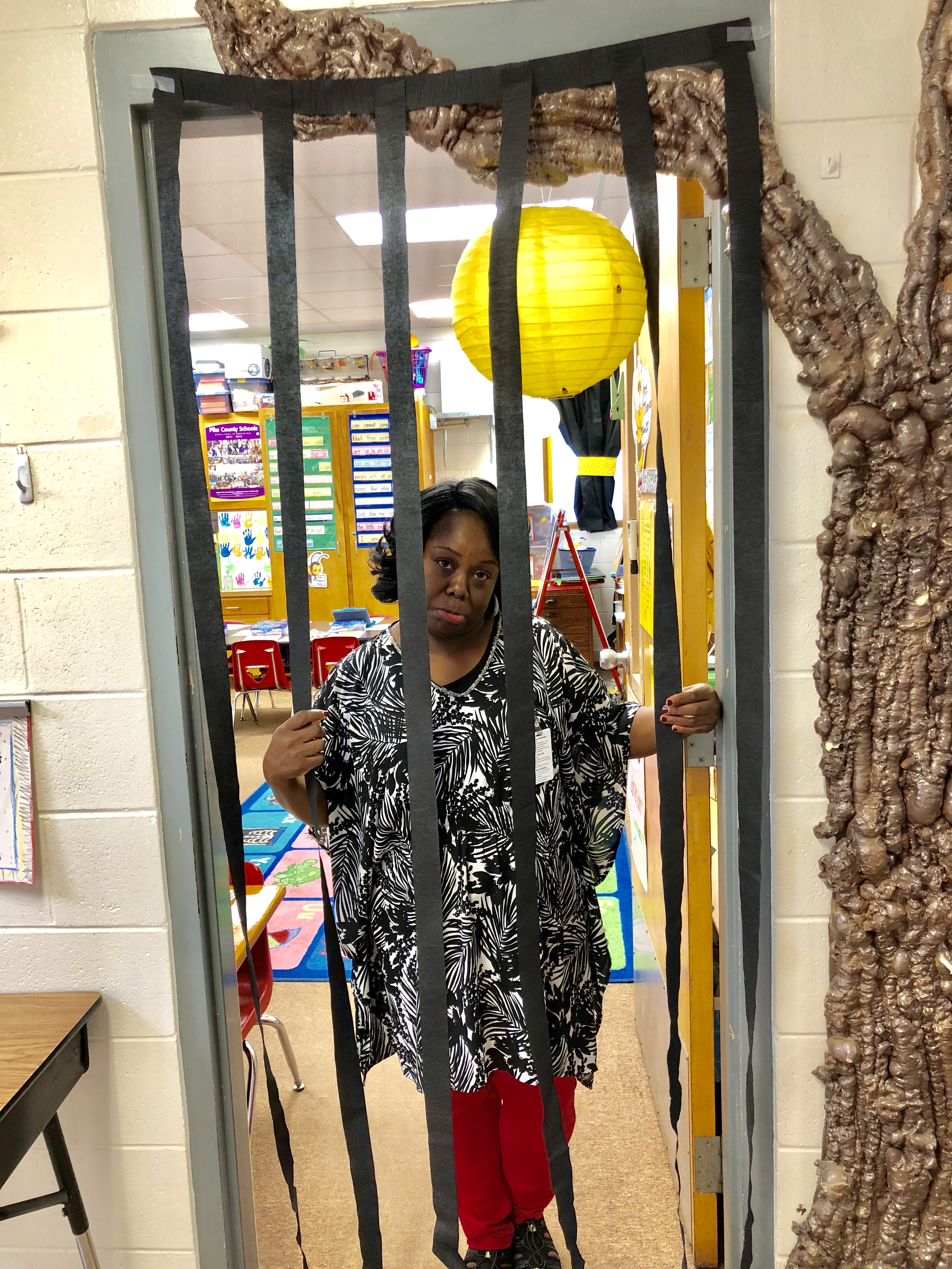 "Mrs. Thomas was ""jailed"" by her students in a library fundraiser."
