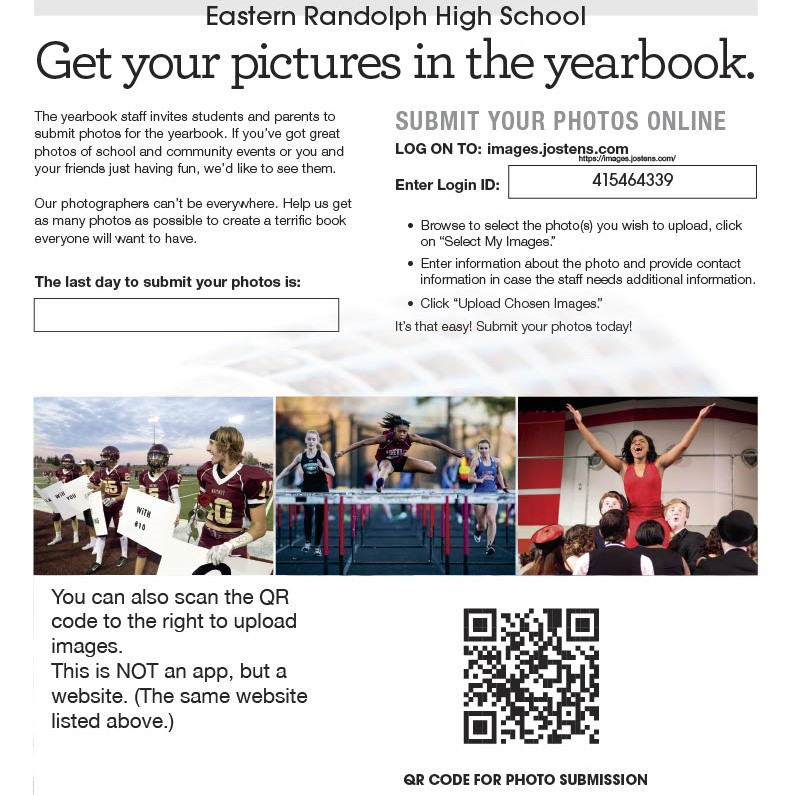 We want YOU in the yearbook!