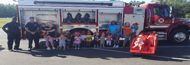 Students enjoying  Fire Safety Week