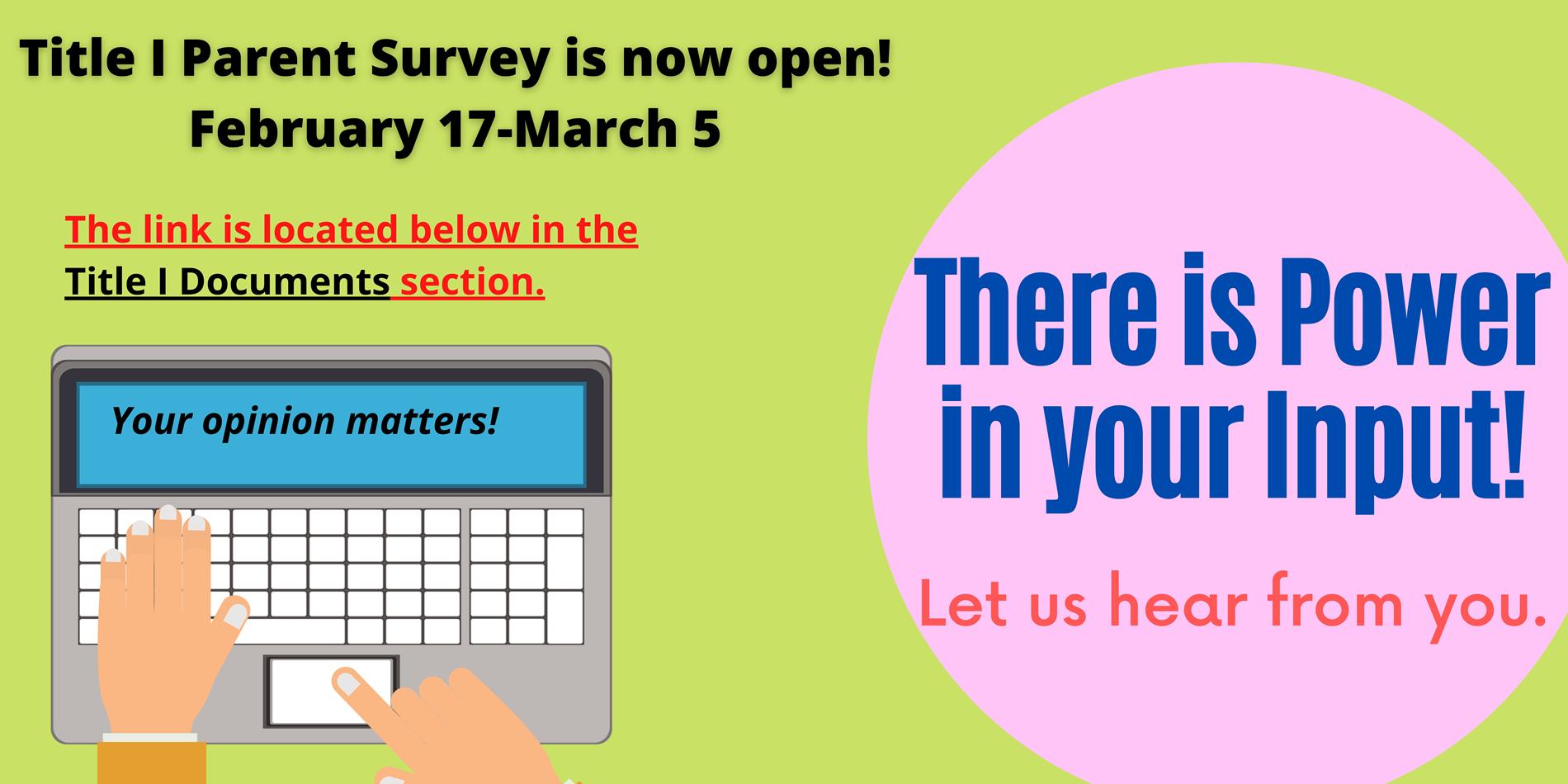 Survey Announcement