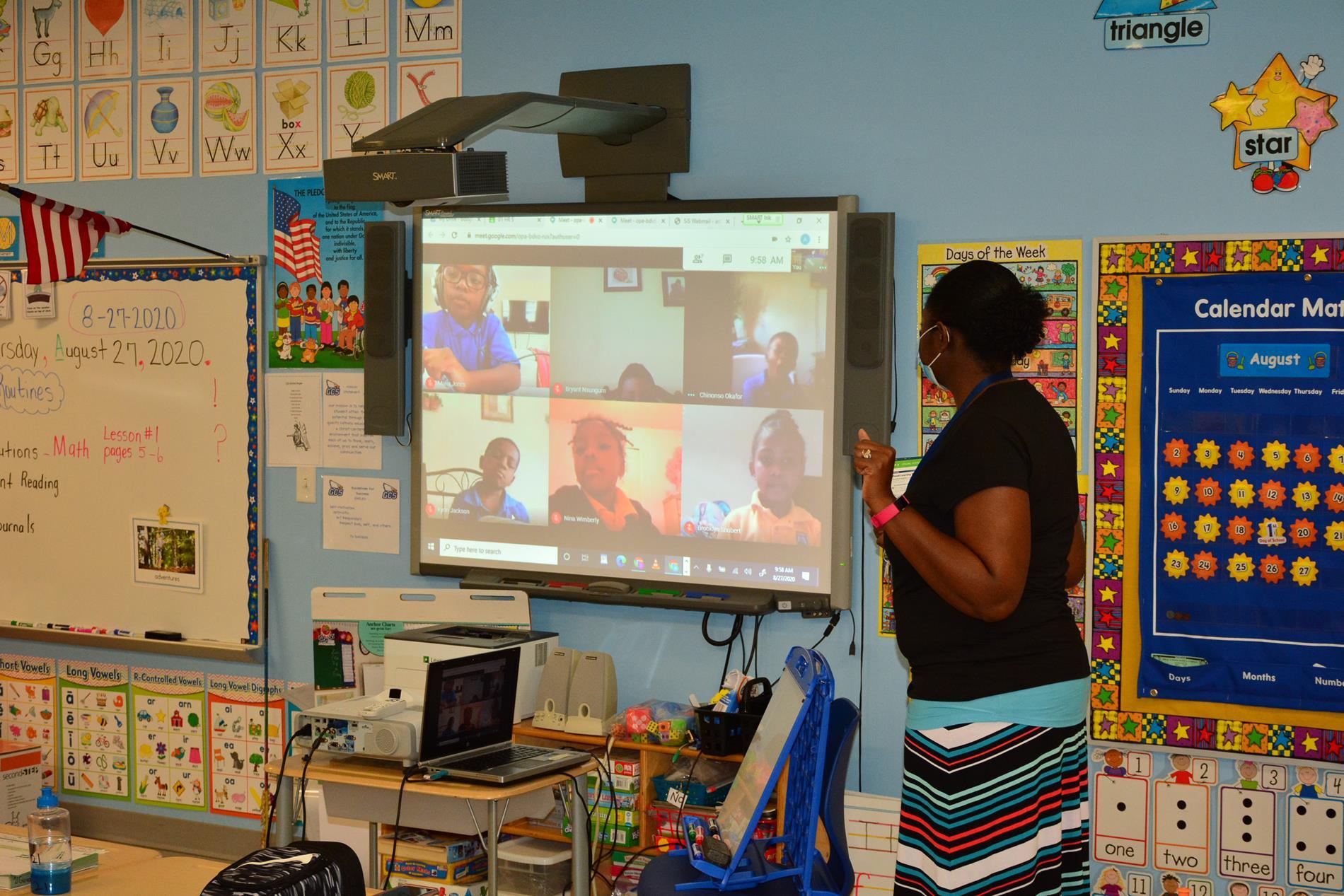 Students Attending School Virtually