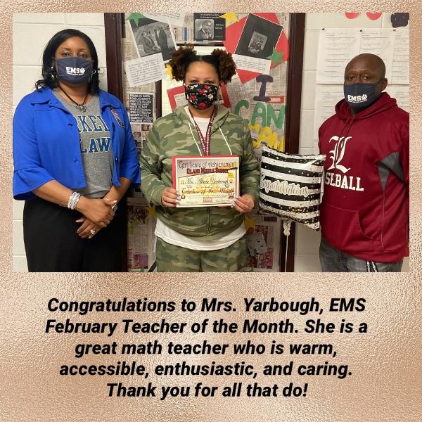Teacher of February