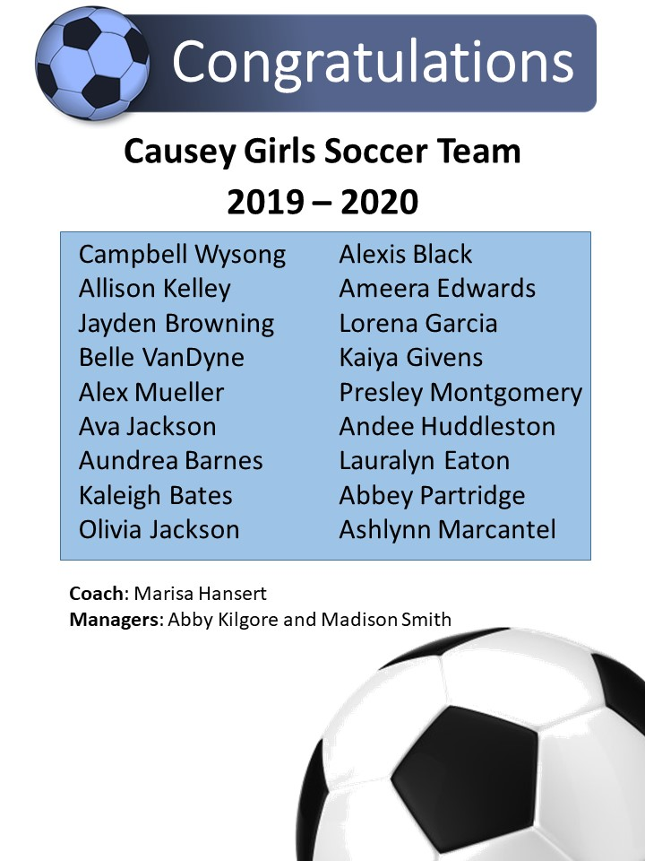 Girls Soccer Roster