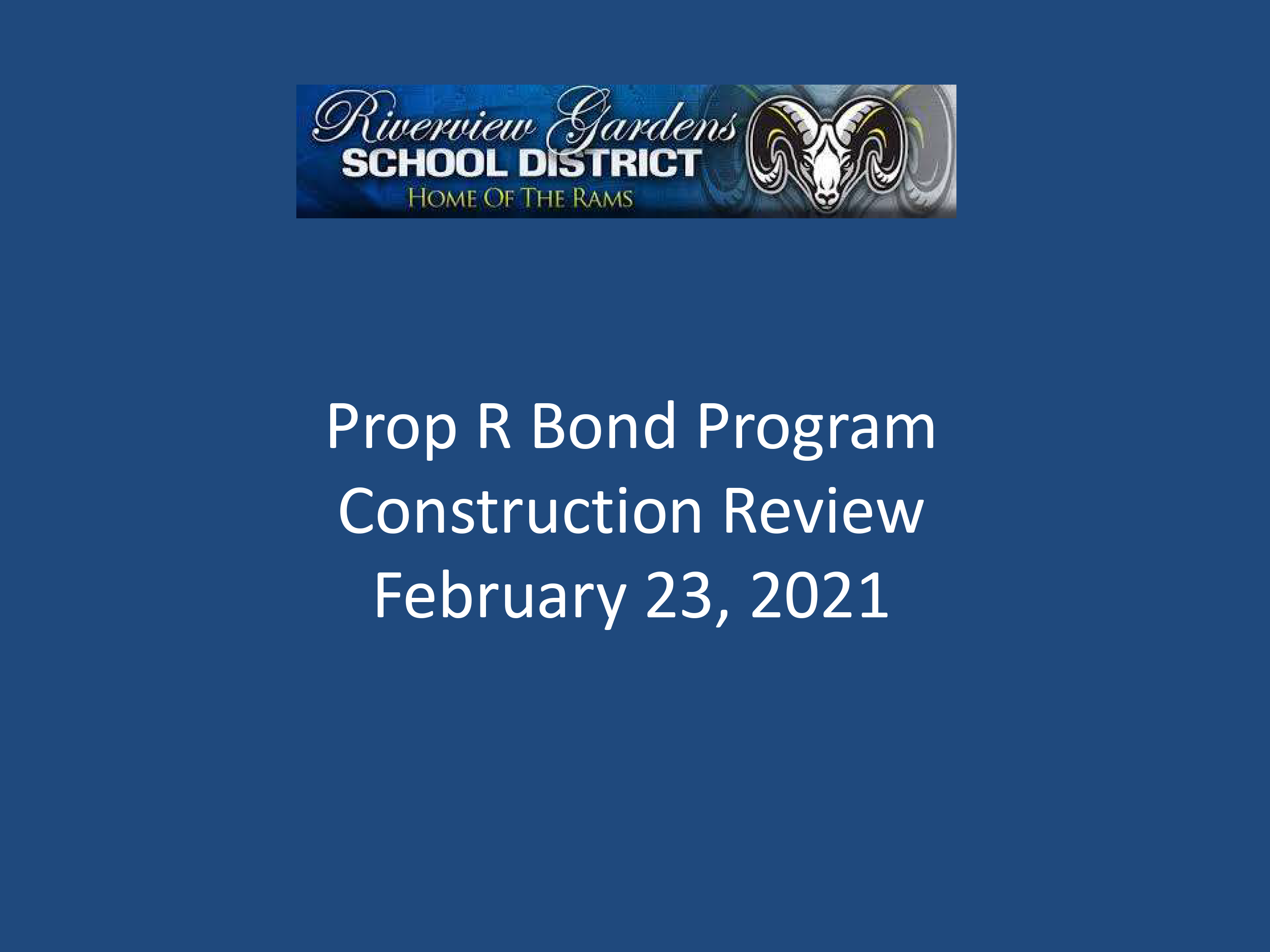 Prop R Projects Update 2-23-21