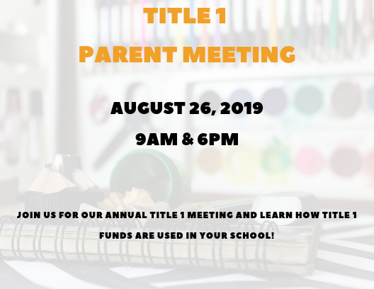 Title 1 Meeting