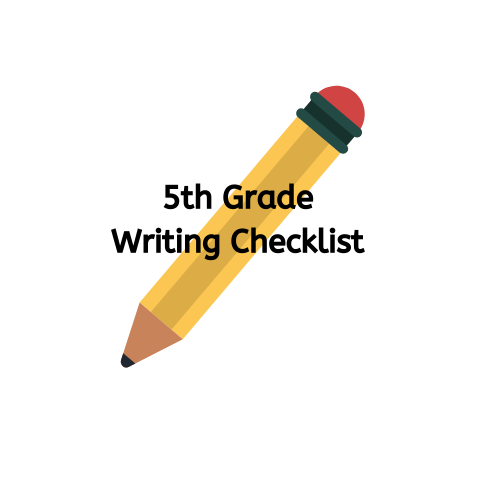 5th Grade Writing Checklist