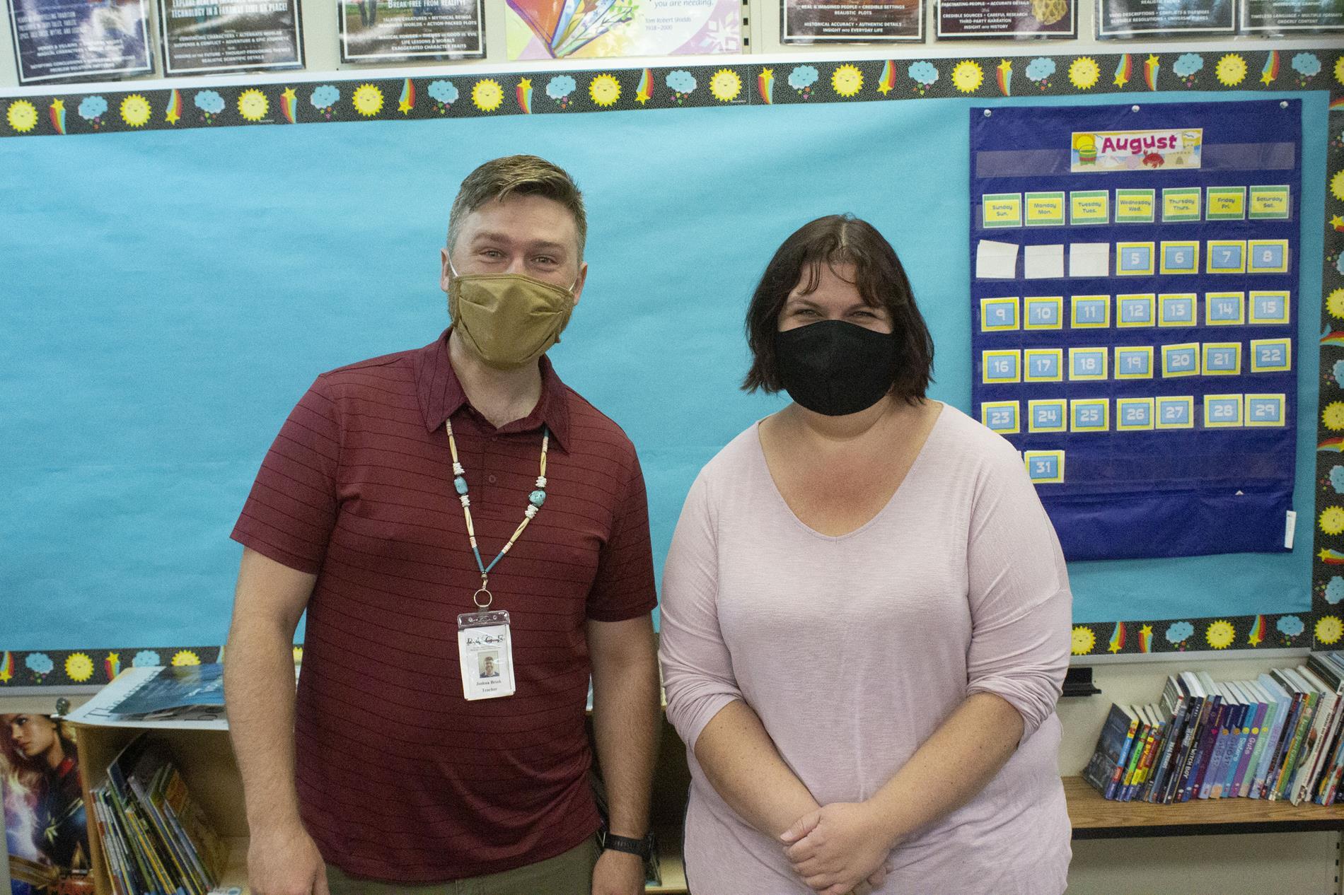 Teachers Josh Brink and Kendra Tarket