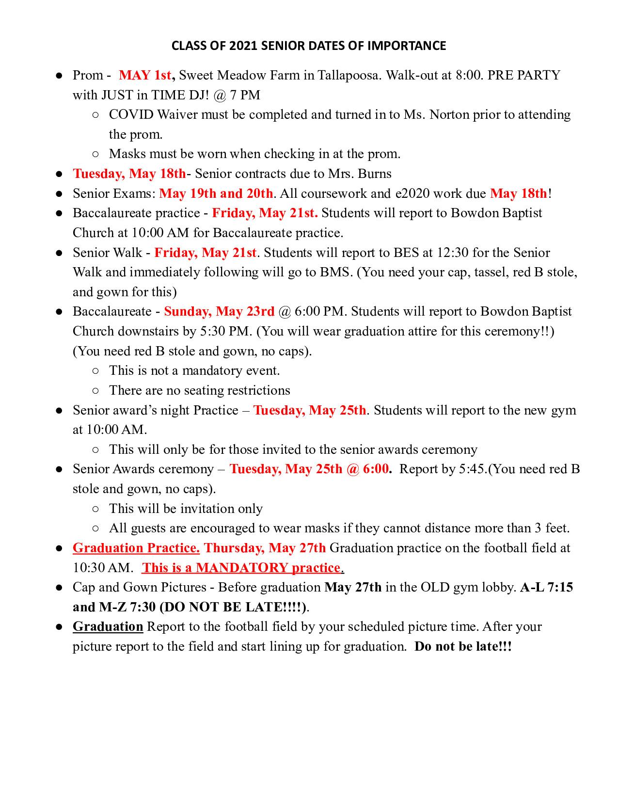 Dates for Seniors