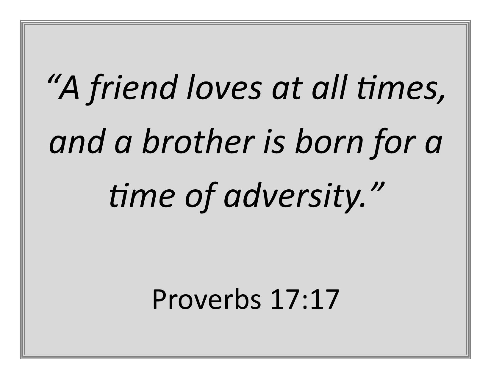 proverbs 17 17