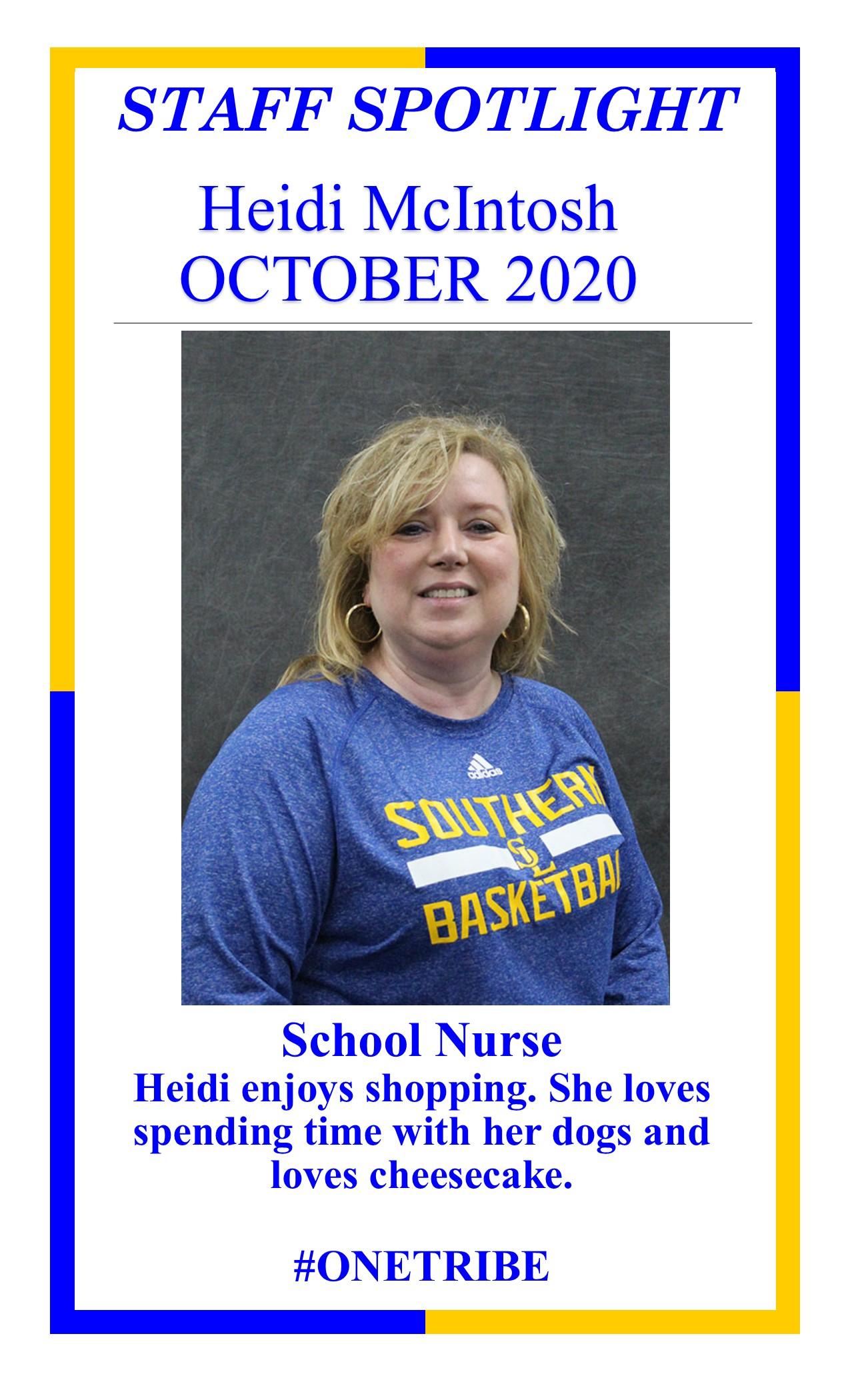 Nurse Heidi McIntosh