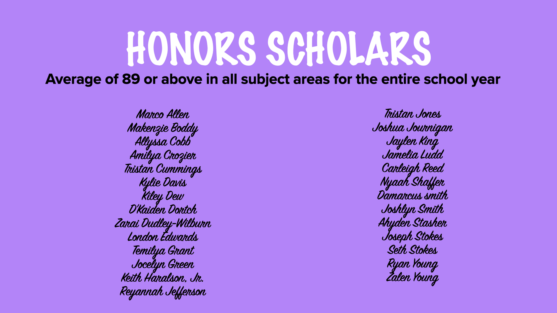 honors scholars