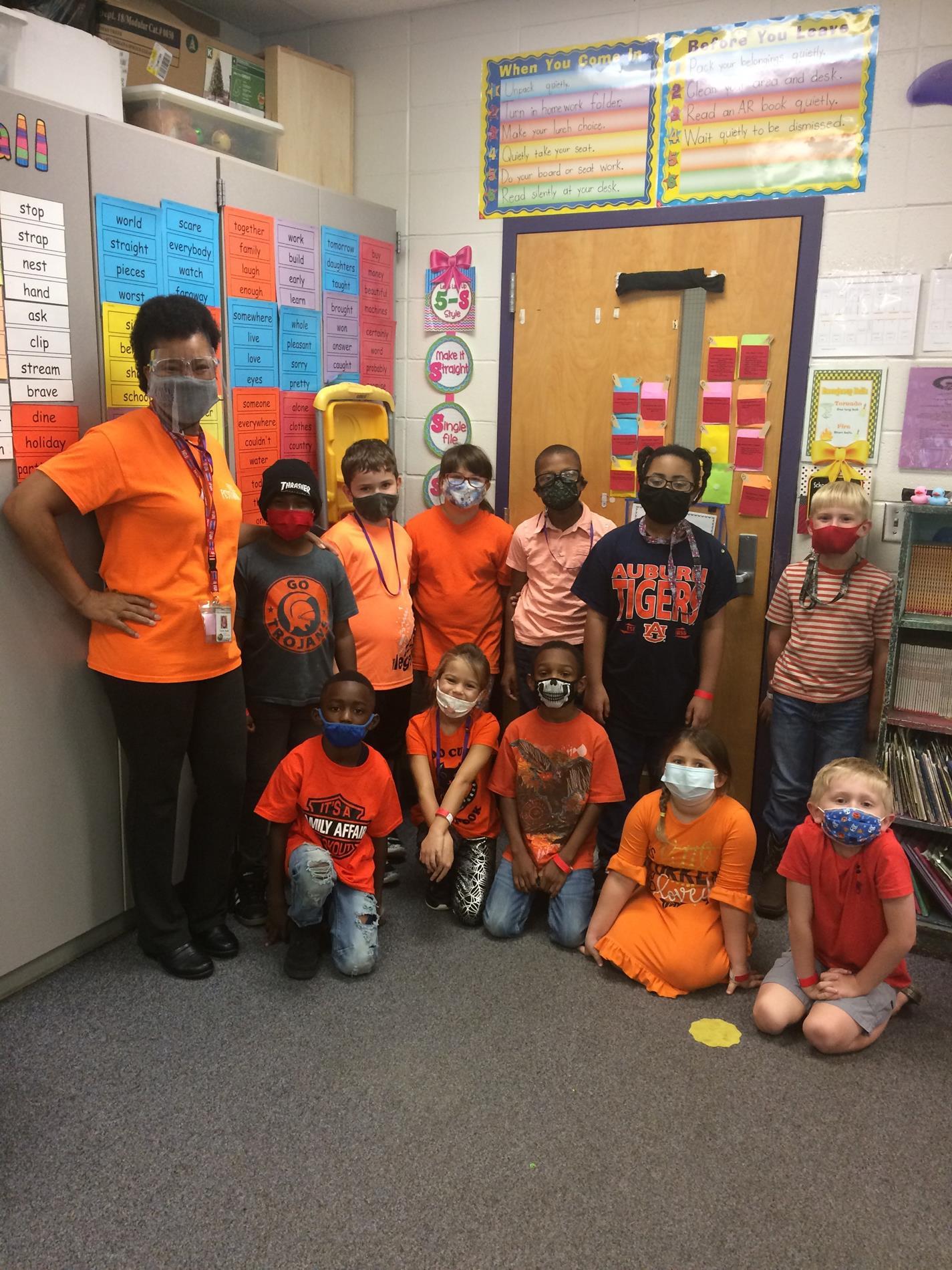 Mrs. Jones' 2nd Grade Unity Day!