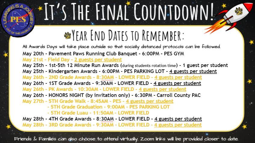 PES Final Countdown Flyer